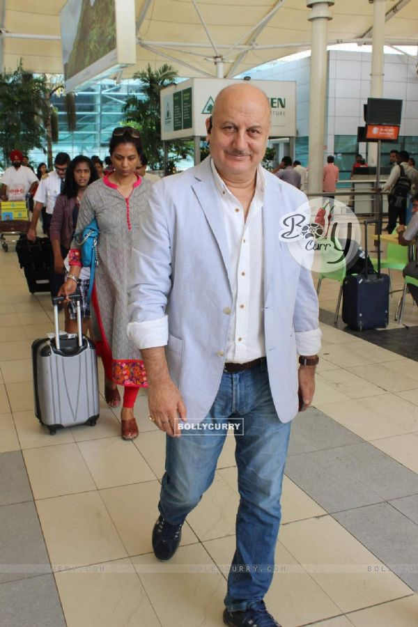 Anupam Kher Snapped at Airport