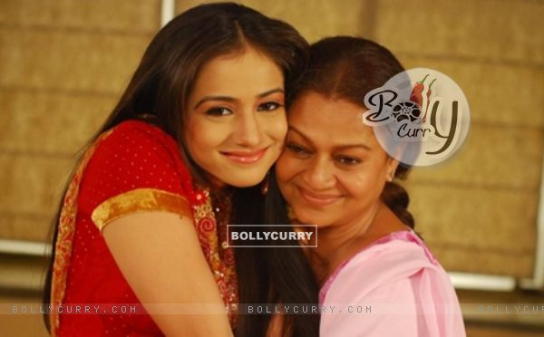 Mahi with her mother Mohini