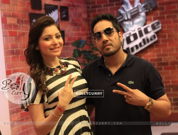 Kanika Kapoor and Mika Singh at The Voice:India