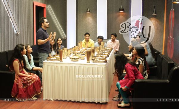 Mika Singh with Contestants of The Voice : India