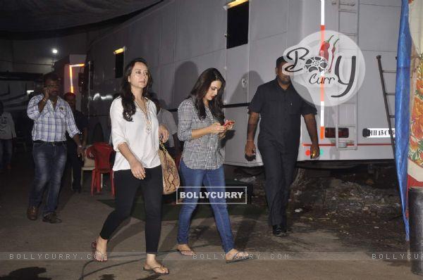 Preity Zinta Snapped at Film City