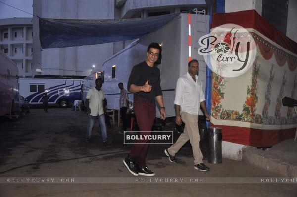 Sonu Sood Snapped in Film City