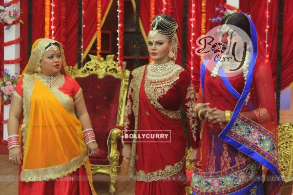 Rakhi Sawant and Bharti Singh on the Sets of Comedy Classes