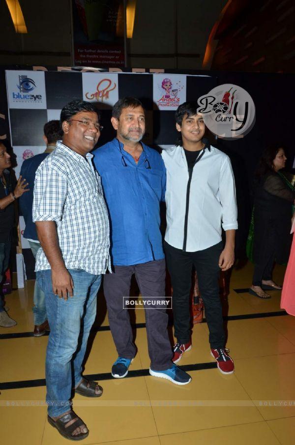 Kishor Kadam, Mahesh Manjrekar and Satya Manjrekar at Special Screening of Marathi Movie 'Jaaniva'