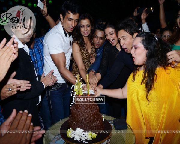Cake Cutting Picture of Pankita Sardani and Arun Sheshkumar's Bash