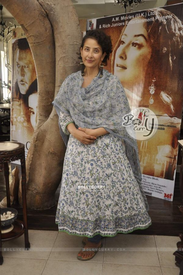 Manisha Koirala at an Interview for her Movie Chehre