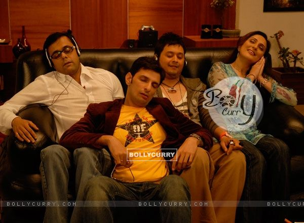 Radhika, Rajdeep and Kapil sleeping in Vibrating sofa