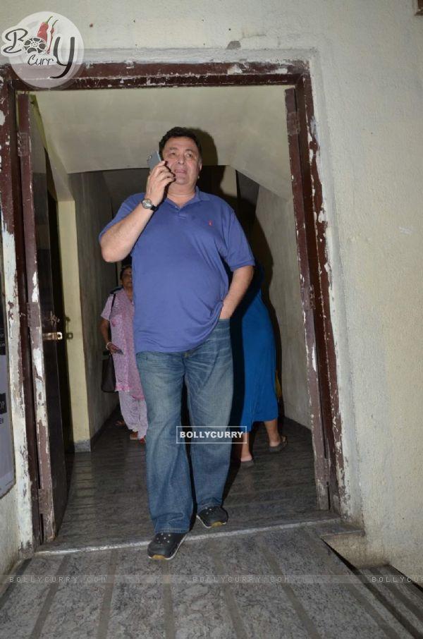 Rishi Kapoor Snapped Outside PVR