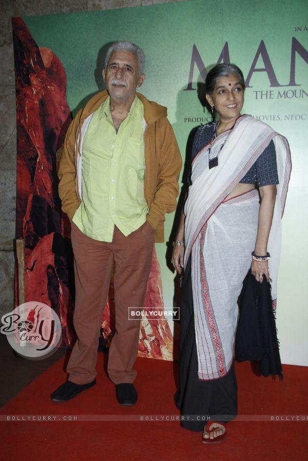 Naseeruddin Shah and Ratna Pathak at Screening of Manjhi - The Mountain Man