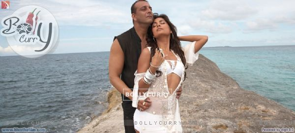 Romantic scene of Sanjay Dutt and Lara Datta