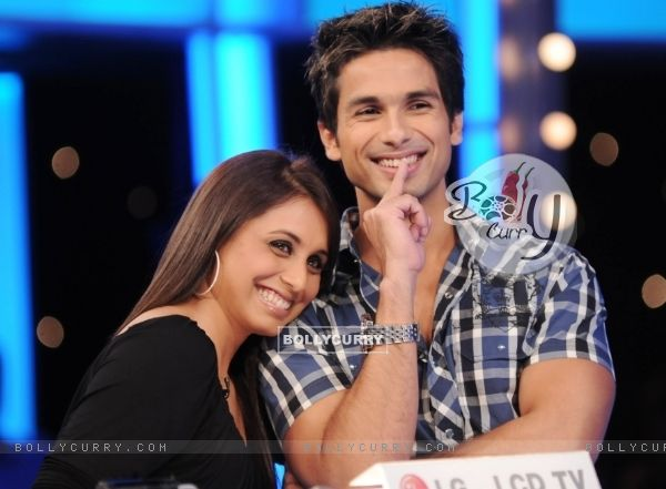 Shahid Kapoor with Rani Mukherjee