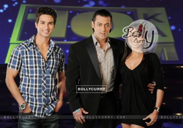 Salman Khan with Shahid Kapoor and Rani Mukherjee