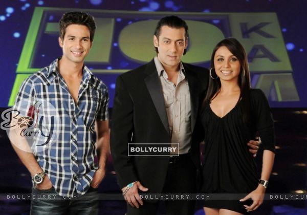 Salman Khan with Shahid Kapoor and Rani Mukherjee