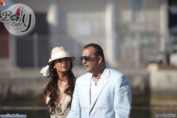 Lara Dutta with Sanjay Dutt