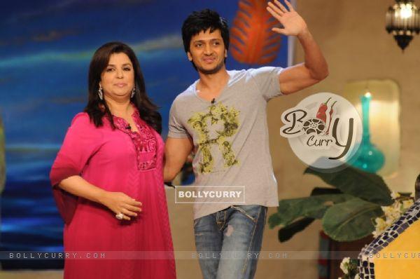 Farah Khan with Ritesh Deshmukh