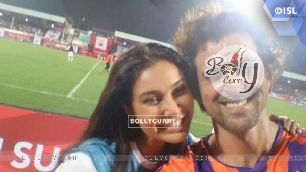 Lisa Ray and Hrithik Roshan at ISL Match