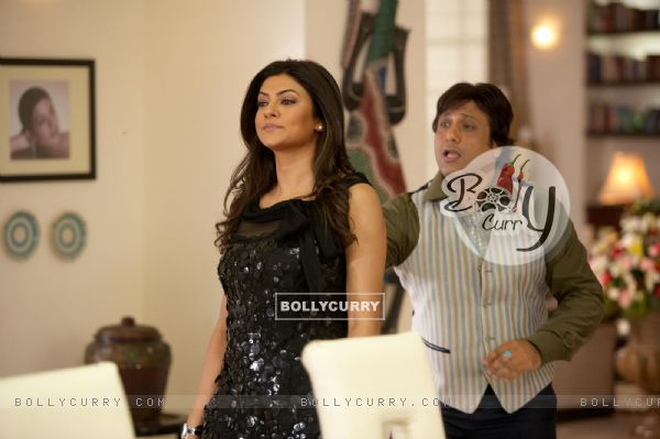 A still image of Govinda and Sushmita Sen