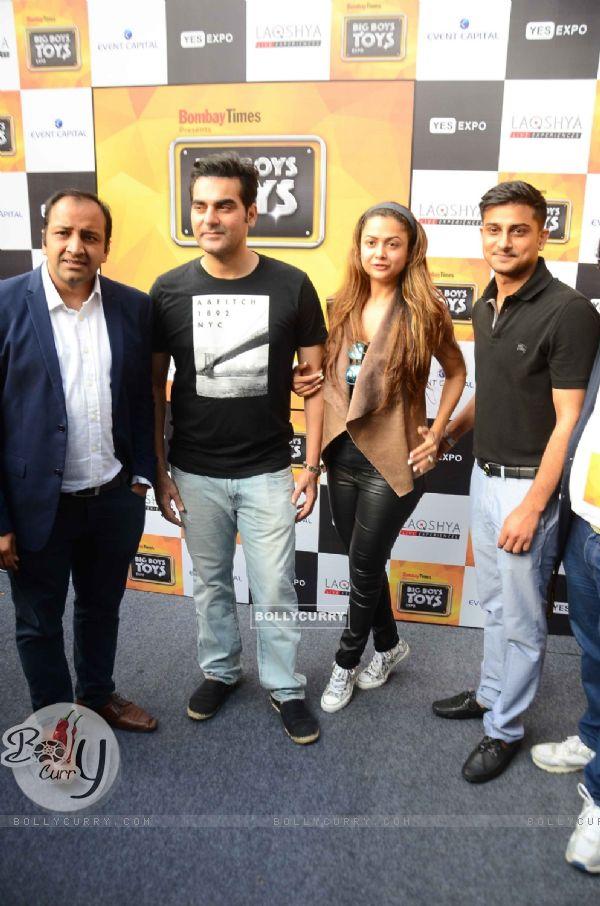 Arbaaz Khan and Amrita Arora at Big Boys Toys Expo