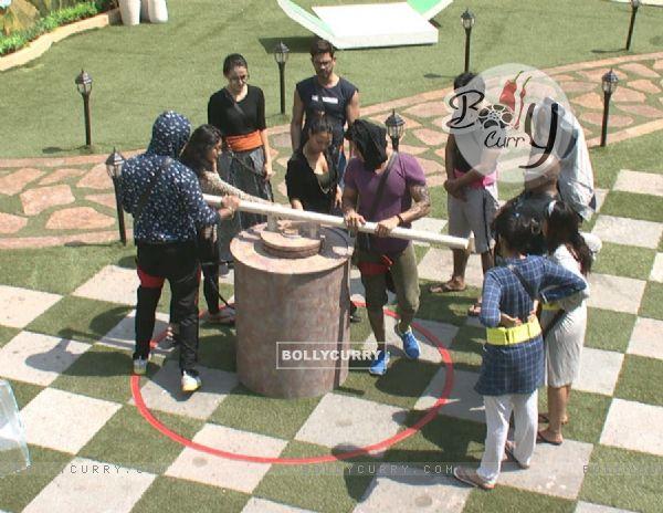 Bigg Boss Nau : Day 9 - Contestants Doing Task