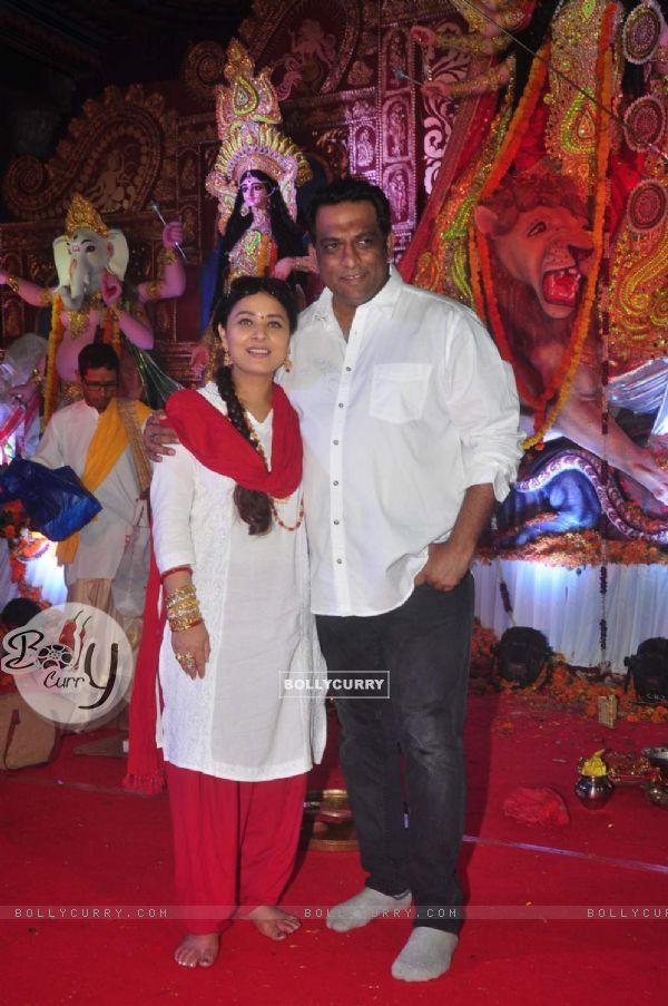 Sharbani Mukherjee and Anurag Basu at North Bombay Sarbojanin Durga Puja