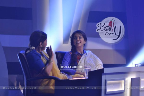 Juhi Chawla and Shabana Azmi on the Sets of Chalk N Duster