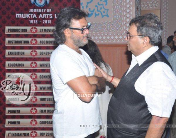 Rakeysh Omprakash Mehra and Subhash Ghai at Celebration of 37 Years of 'Mukta Arts'