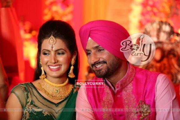 Geeta Basra and Harbhajan Singh's Sangeet Ceremony Picture