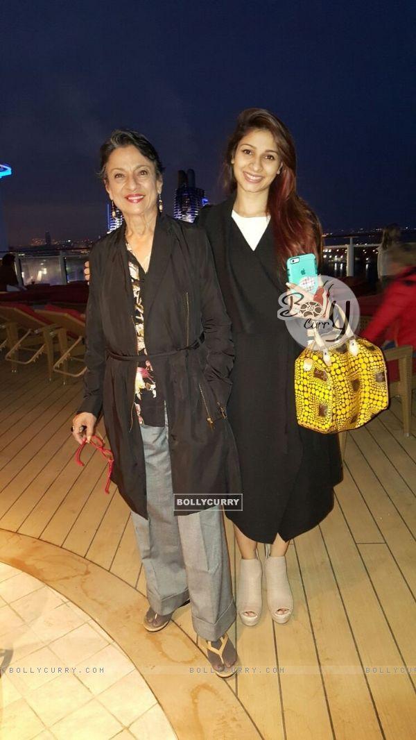 Tanishaa Mukerji and Tanuja on Norwegian Cruise line for IMFFA