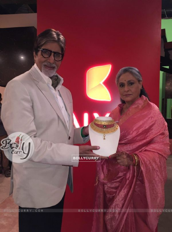 Amitabh Bachchan and Jaya Bachchan at Kalyan Jewelers Launch