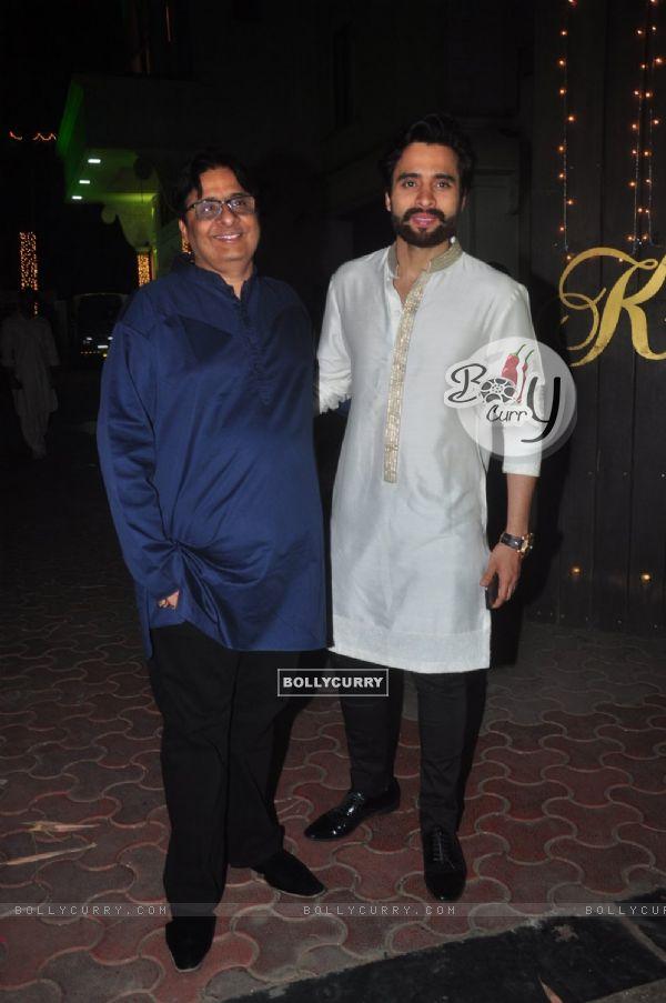 Jackky and Vashu Bhagnani at Shilpa Shetty's Diwali Bash