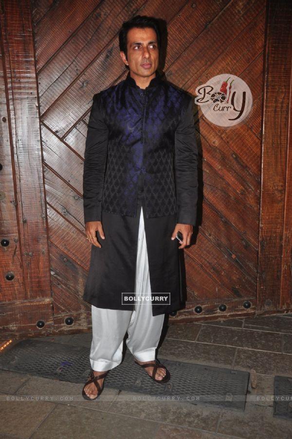 Sonu Sood at Big B's Diwali Bash