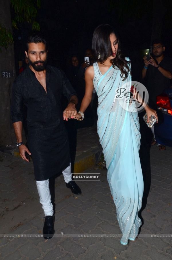 Shahid Kapoor and Mira Rajput Kapoor Snapped