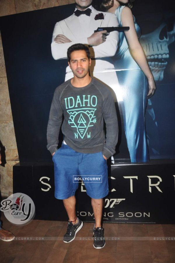 Varun Dhawan at Special Screening of Spectre