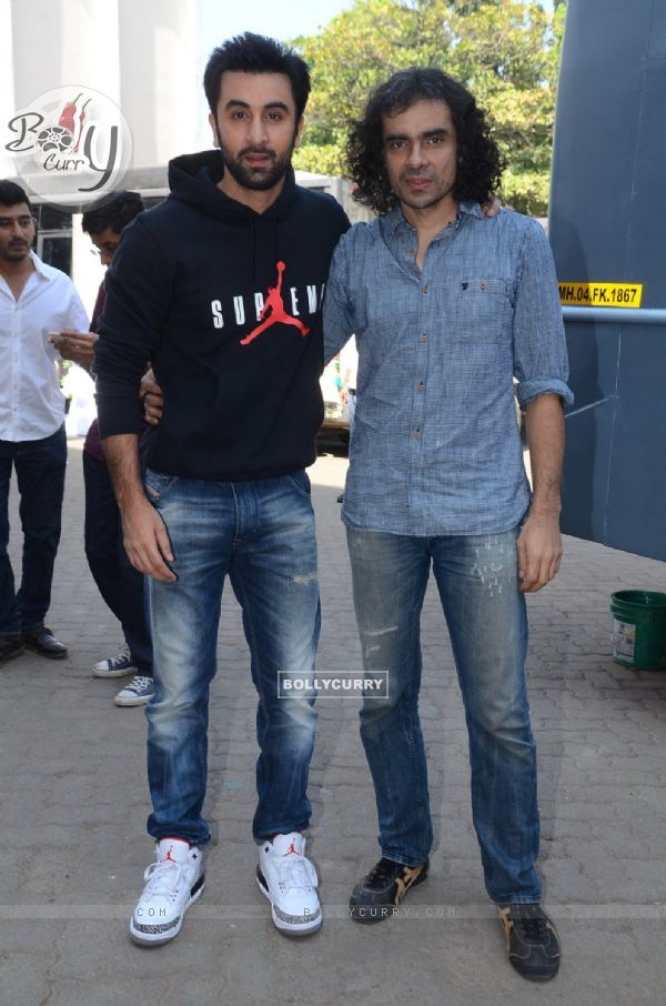 Ranbir Kapoor and Imtiaz Ali Snapped Pomoting Tamasha