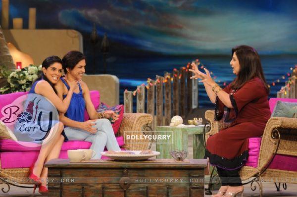 Asin and Deepika with Farah Khan