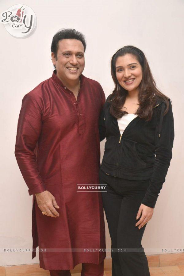 Govinda with his Daughter Tina Ahuja