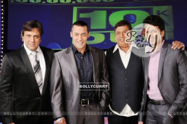 David Dhavan, Govinda and Ritesh Deshmukh with Salman Khan