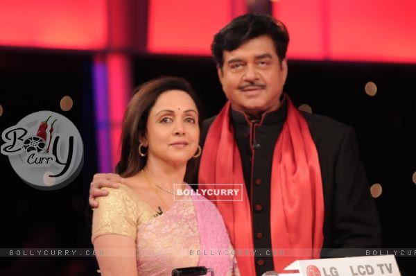 Shatrughan Sinha and Hema Malini