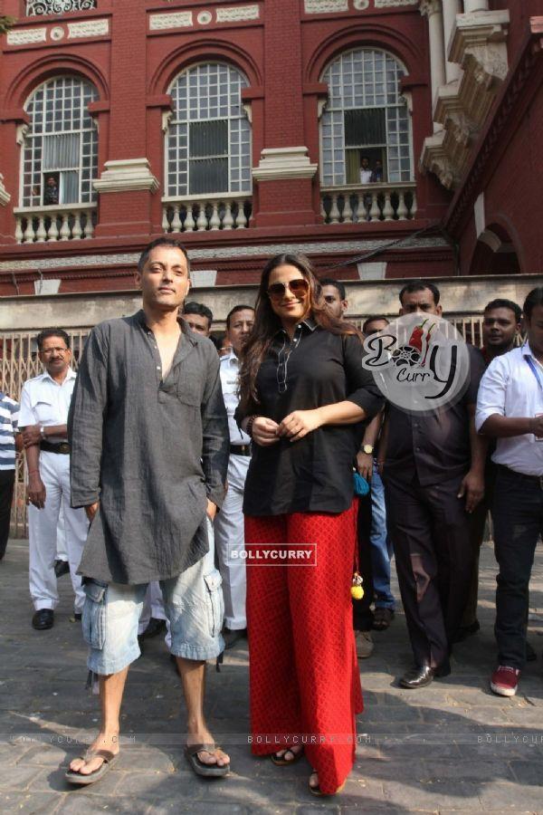 Vidya Balan on Location