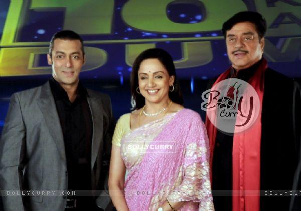 Salman Khan, Hema Malini and Shatrughan Sinha