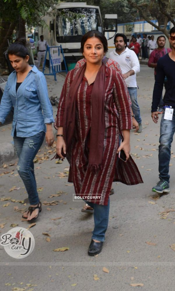 "Vidya Balan shoots for ""Te3n"" in Kolkata"