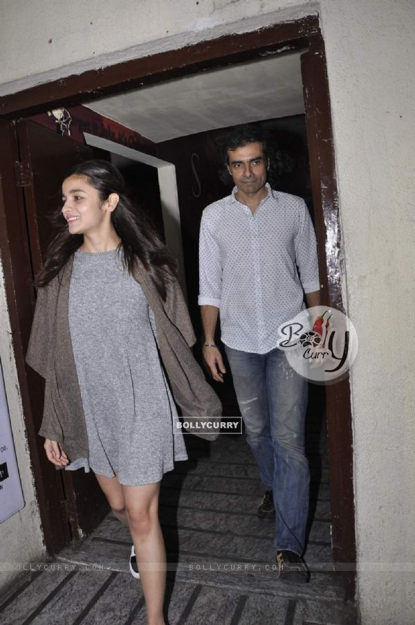 Alia Bhatt and Imtiaz Alisnapped at PVR