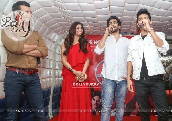 Daisy Shah, Sharman Joshi, Armaan Malik and Amaal Mallik at an event