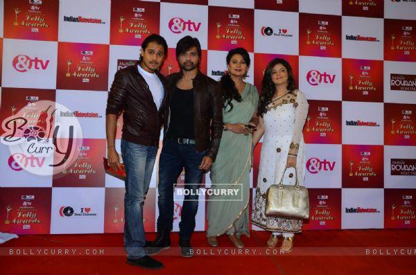 Himesh Reshammiya and Sonia Kapoor at Indian Telly Awards