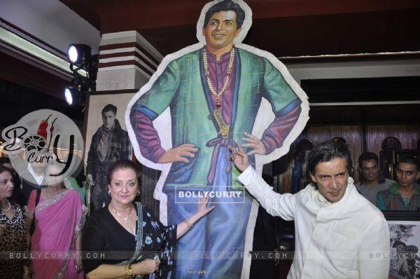 Veteran Actress Saira Banu at Dilip Kumar's Picture Exhibition
