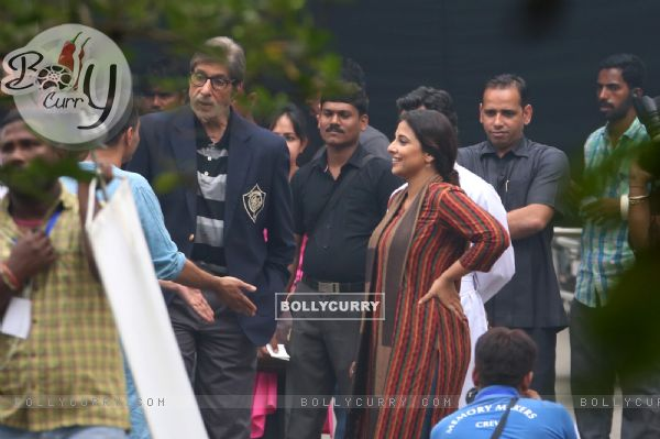 Amitabh Bachchan and Vidya Balan Shoots for Te3n