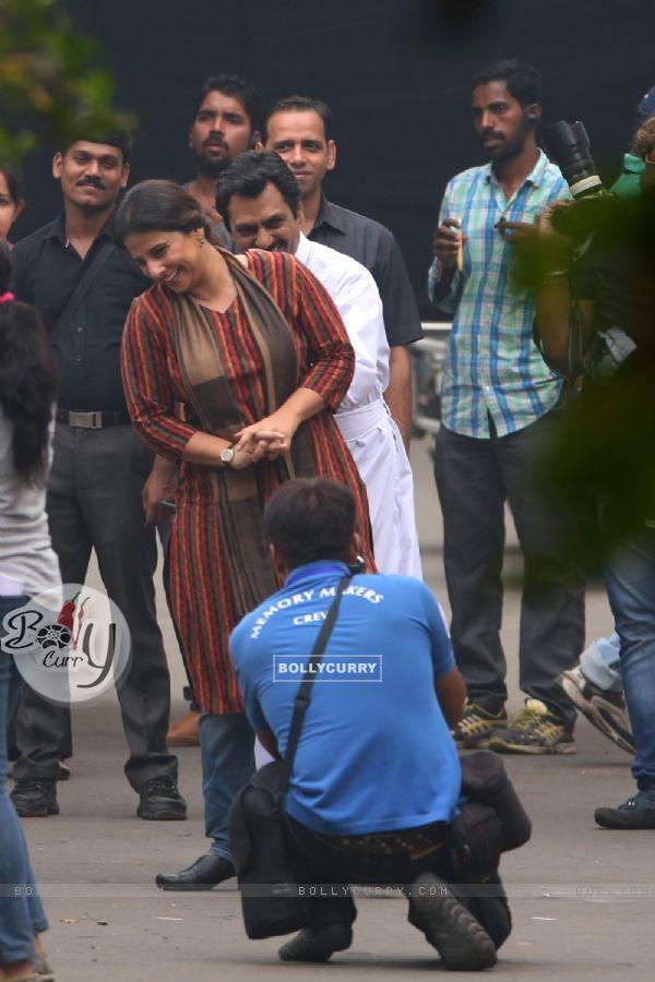 Big B and Vidya Balan Shoots for Sujoy Ghosh's Te3n in Kolata