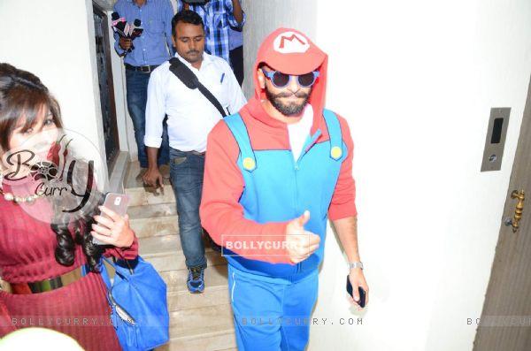 Ranveer Singh Dons Mario Dress at Trailer Launch of Chalk N' Duster (386707)