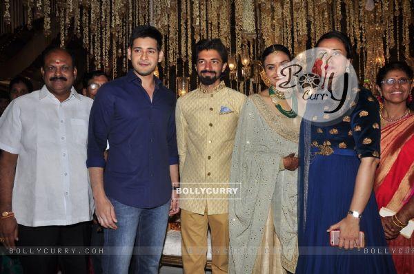 Mahesh Babu and Namrata Shirodkar at Priyanka Dutt and Nag Ashwin's Wedding Reception