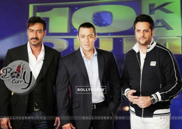 Salman Khan with Ajay Devgan and Fardeen Khan